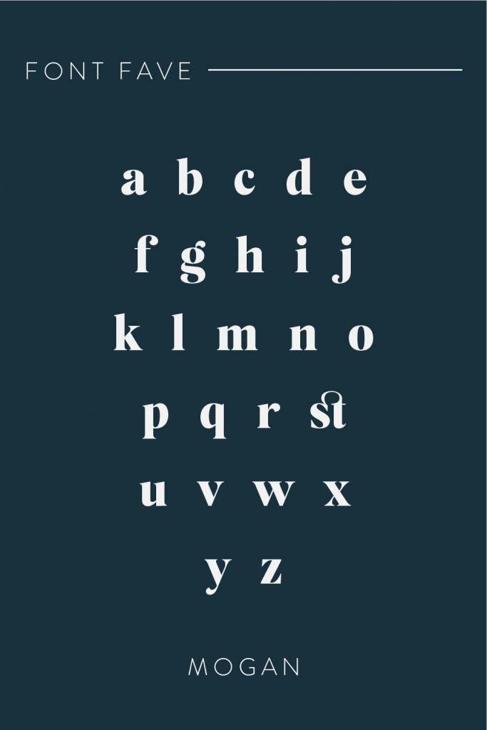 mogan retro font