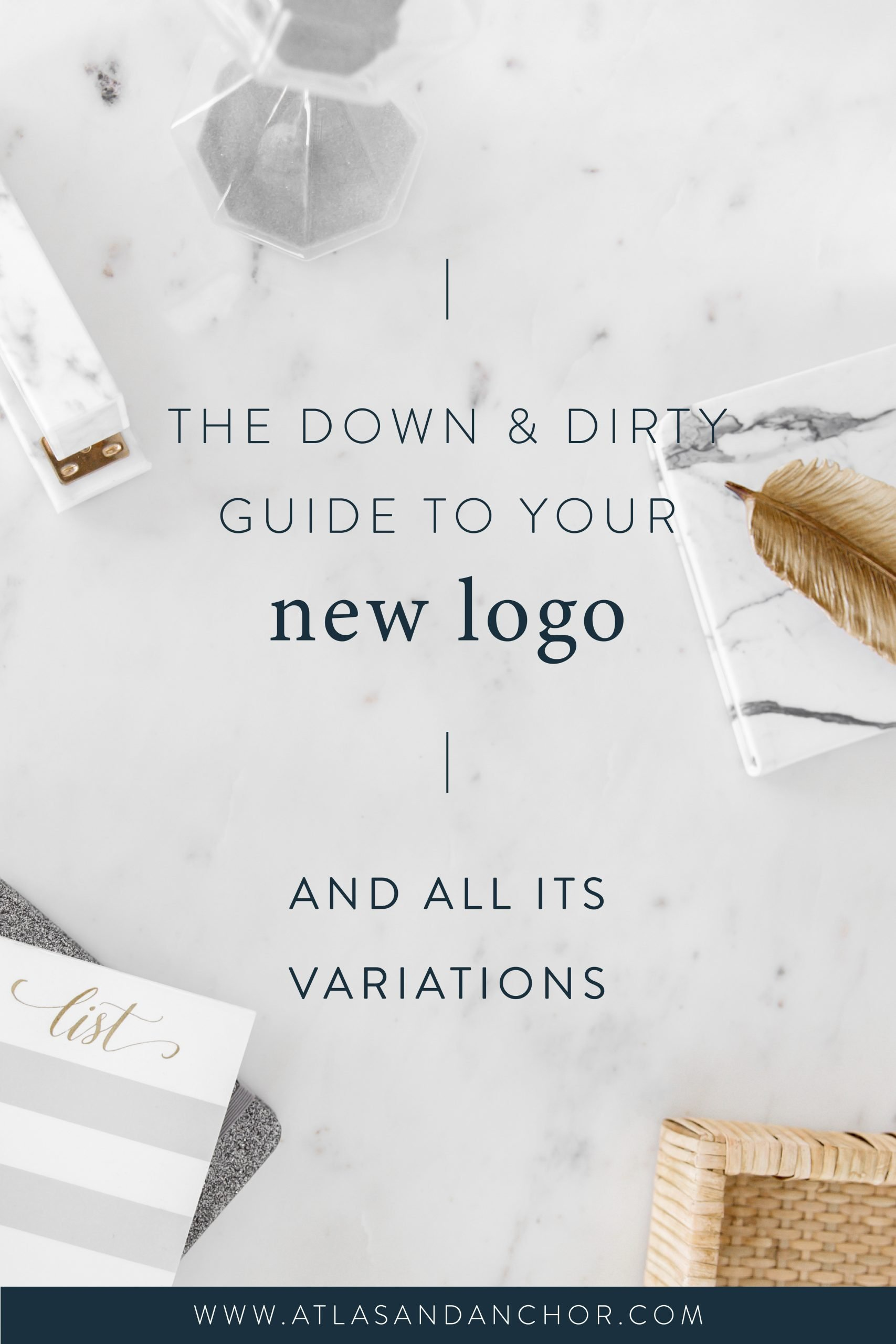 the down and dirty guide to your new logo