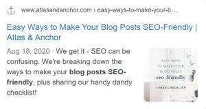 blog post meta tag