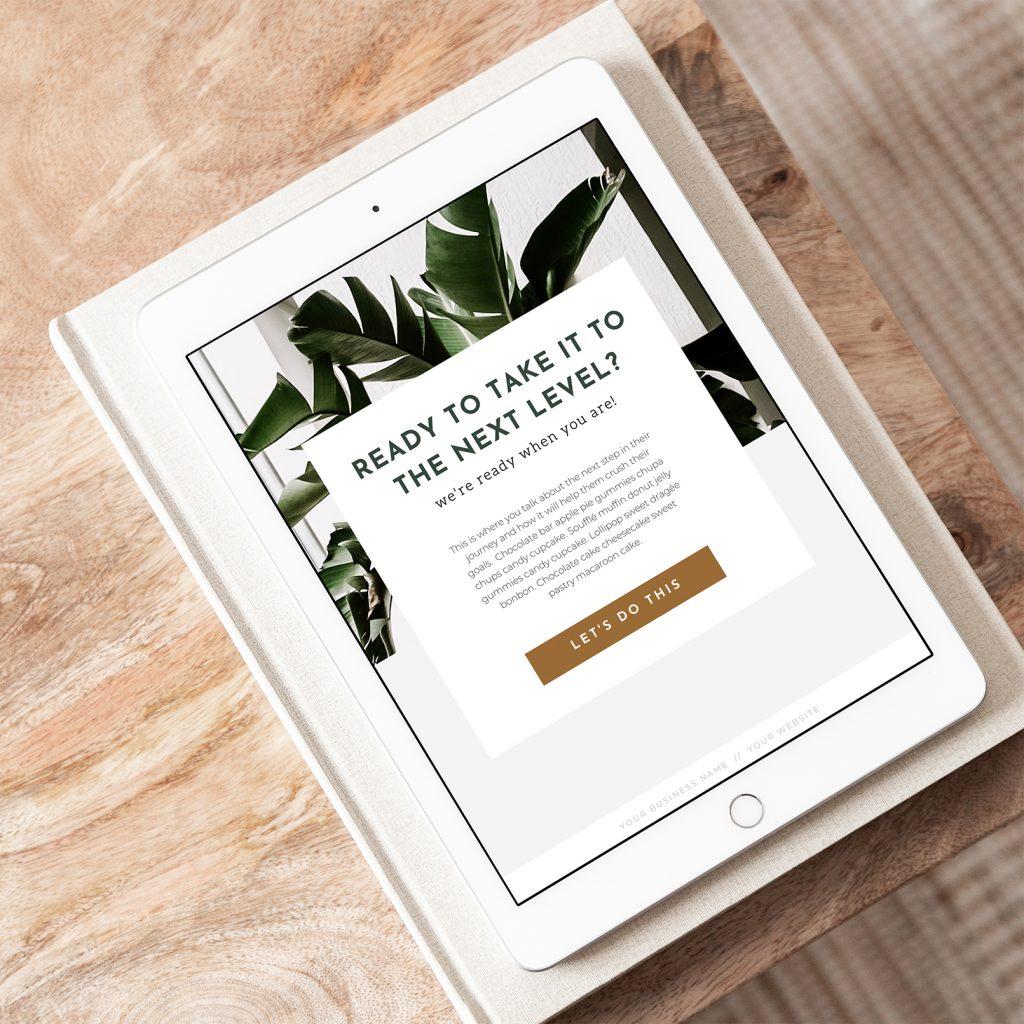digital workbook in tablet