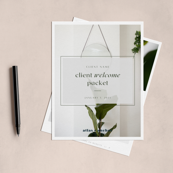 fiona client welcome packet template for canva