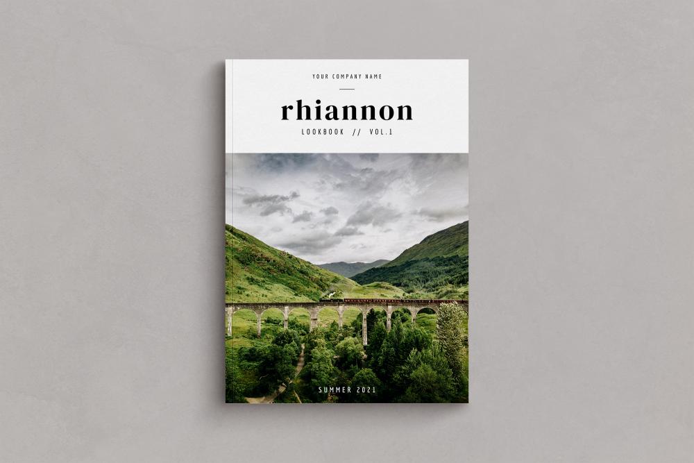 rhiannon lookbook magazine template for canva