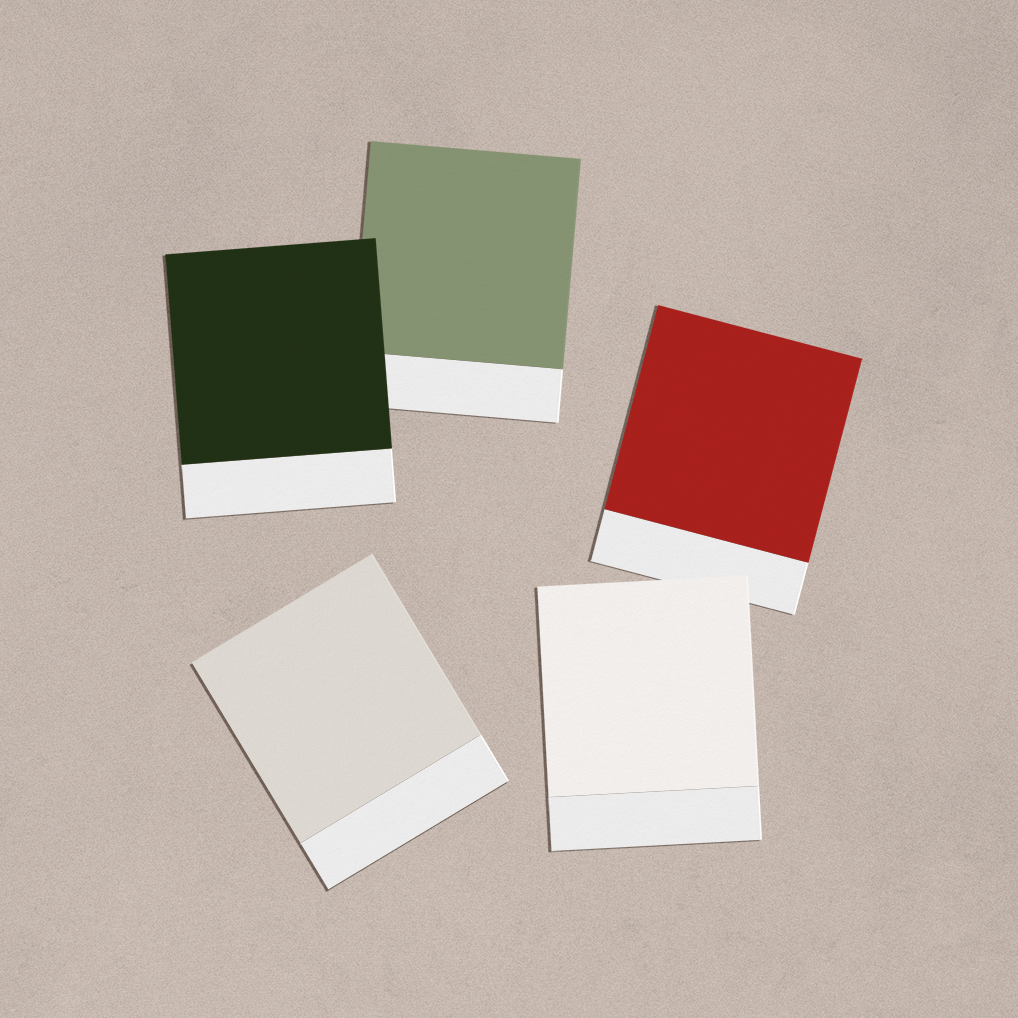 red and green color palette greenmarrow studio brand colors