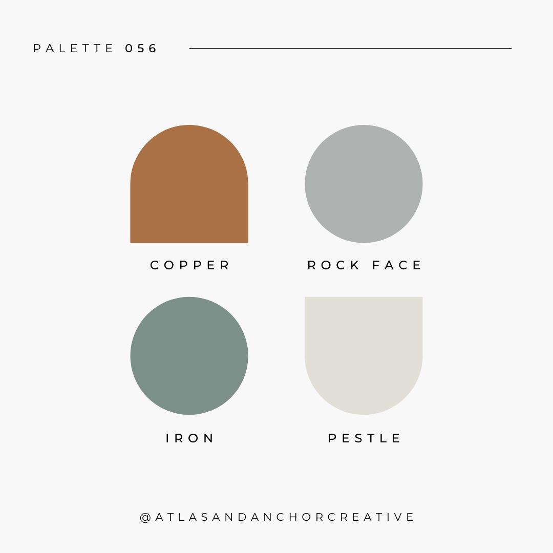 branding color palette gold green gray