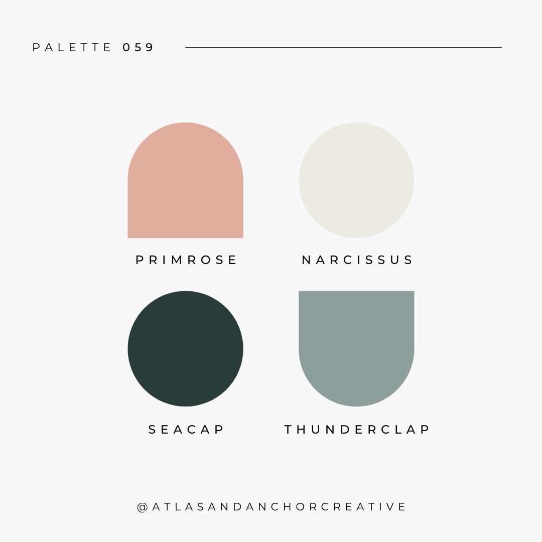 branding color palette pink teal gray
