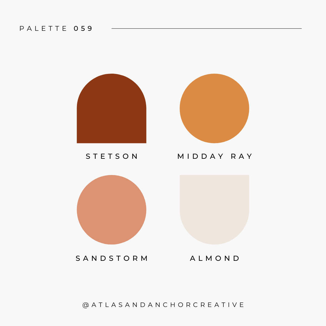 branding color palette dusty red rose yellow