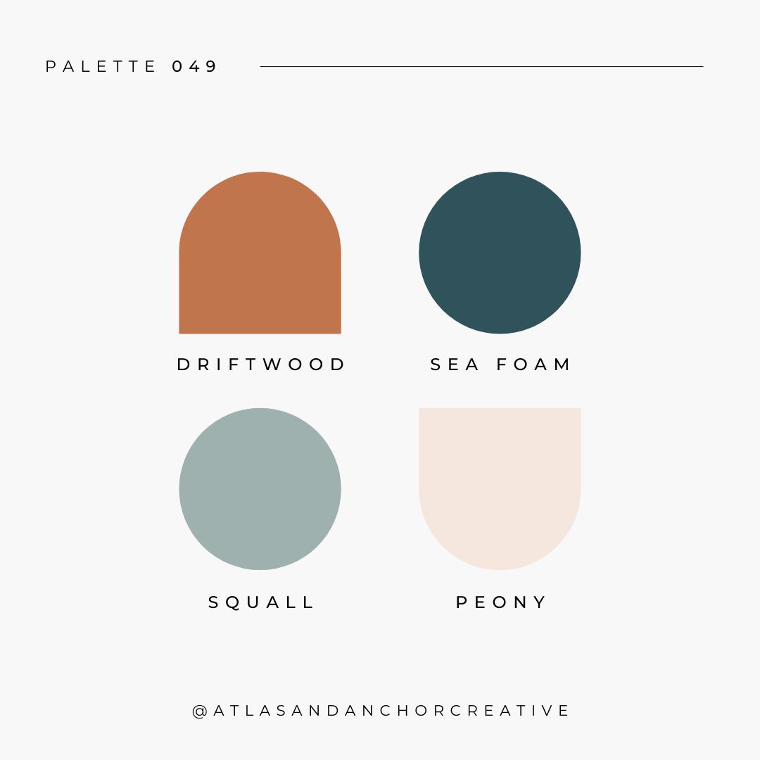 branding color palette blue neutral