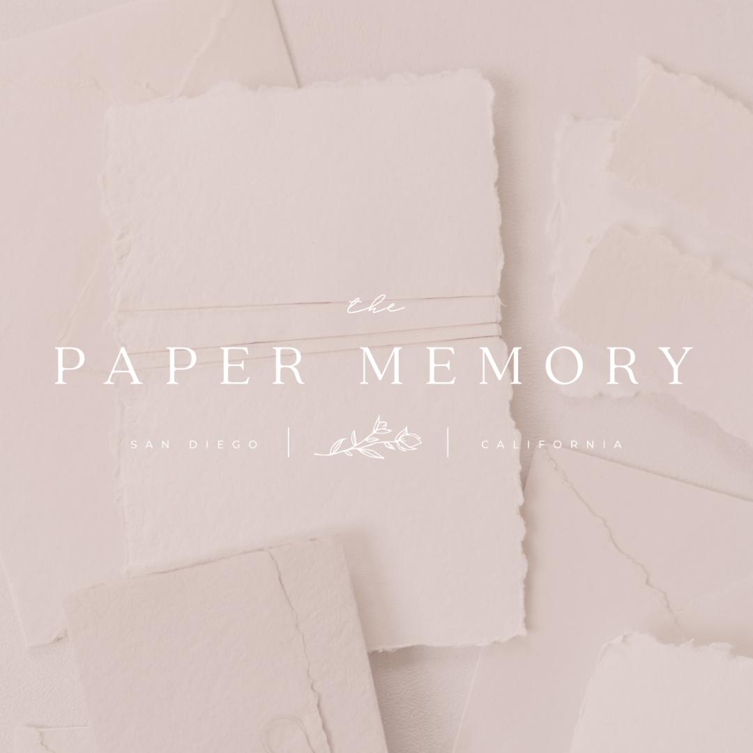 the paper memory elegant logo romantic logo