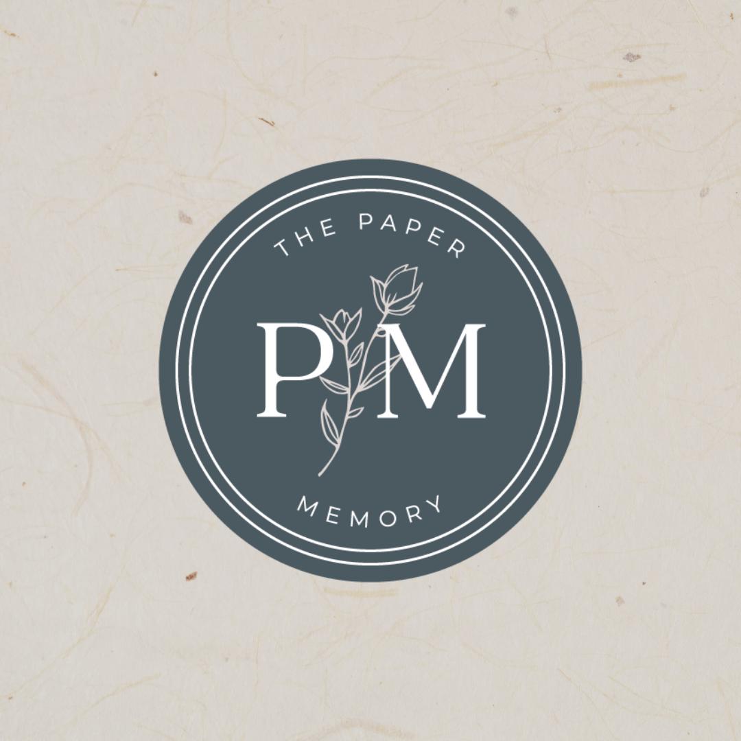 paper memory submark elegant logo romantic logo