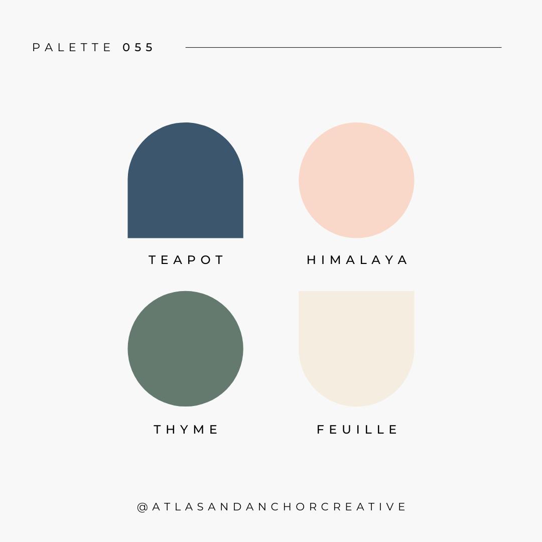 branding color palette blue green pink