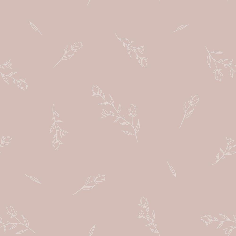 soft floral pattern light pink
