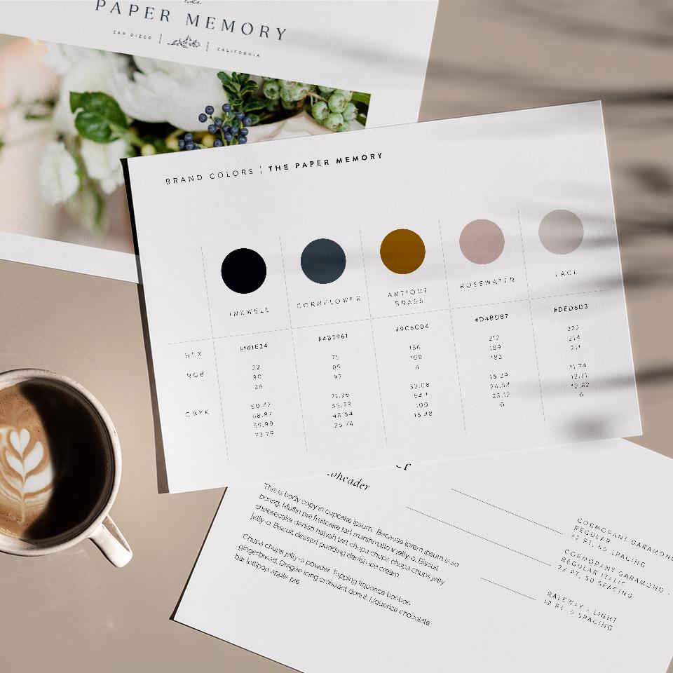 color palette paper memory brand